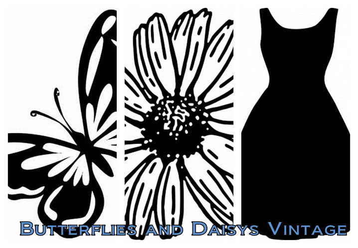 Butterflies and Daisys Vintage