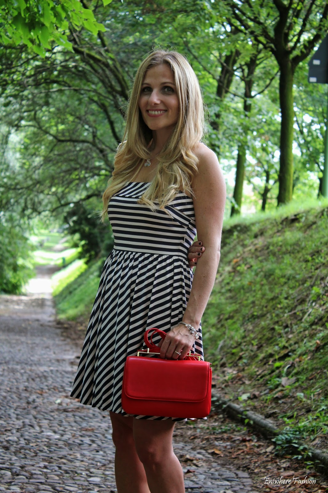 Eniwhere Fashion - striped dress - Mango .mini bag