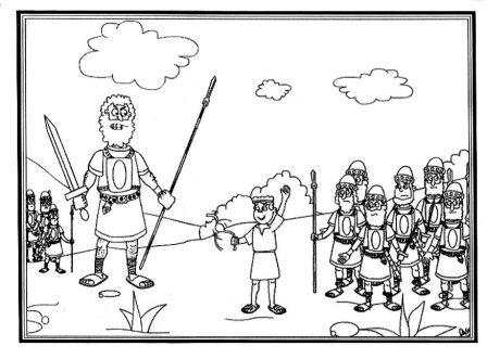 Portal Escuela Dibujo para pintar David y Goliat