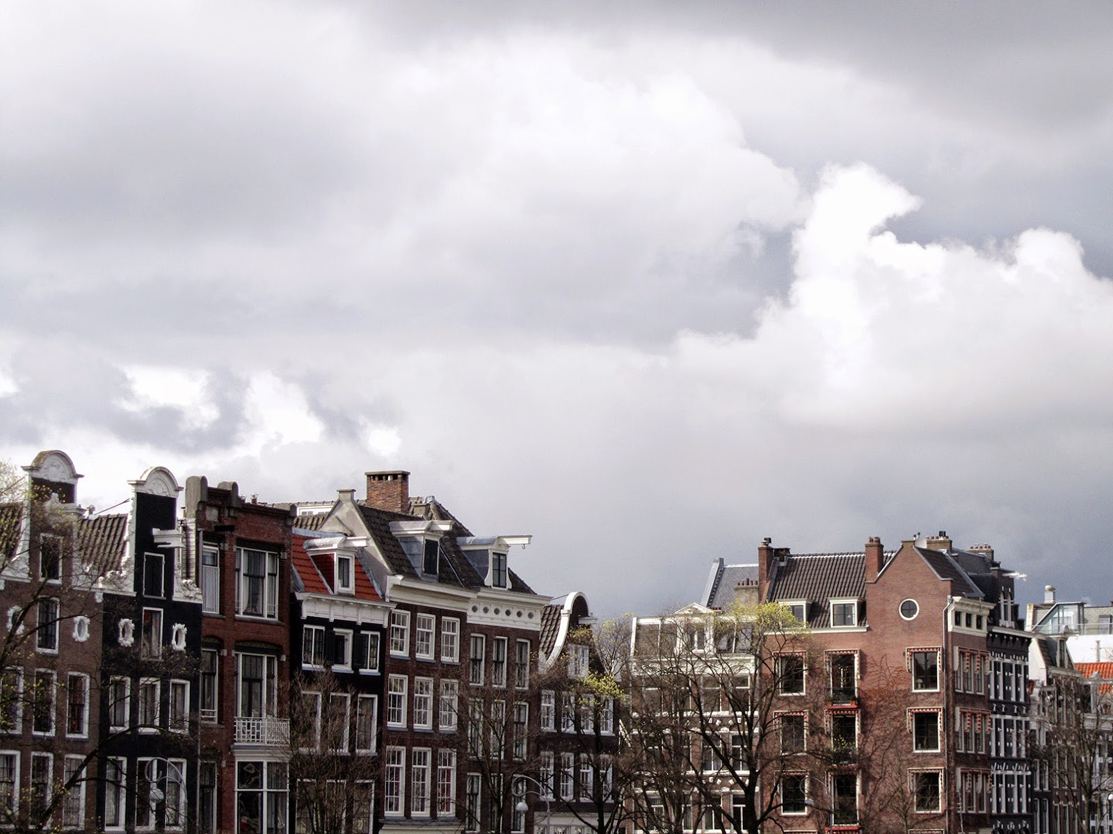view on the canal houses, Amsterdam