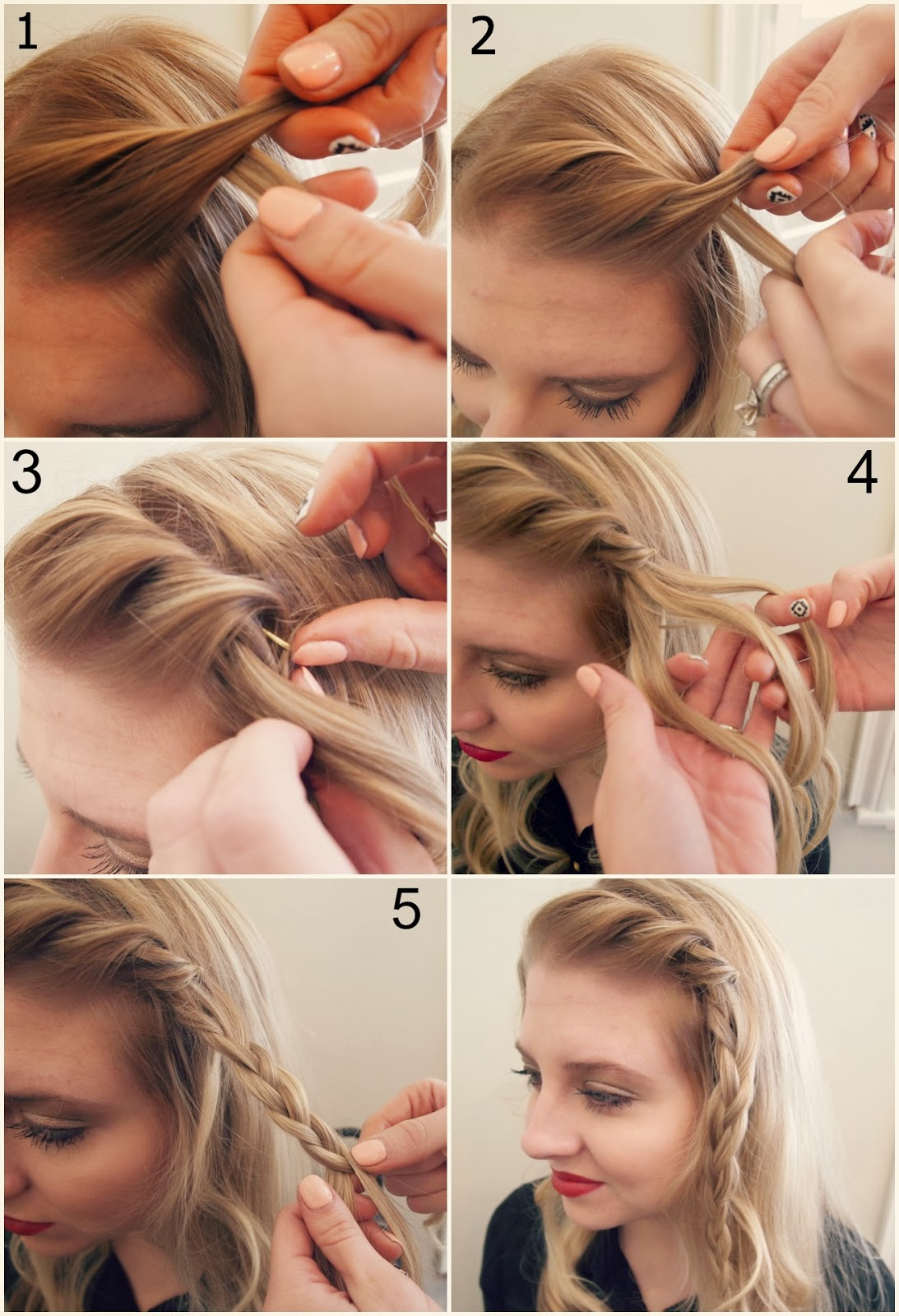 How to Twist Hair in Front Twist The Front Half of Hair
