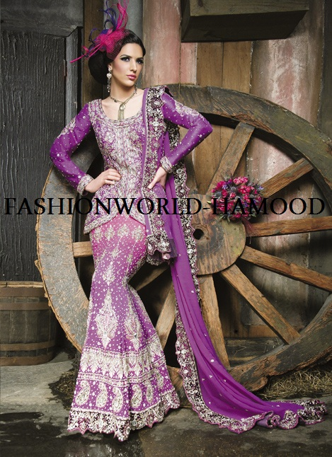 Purple and Blue Wedding Lahenga