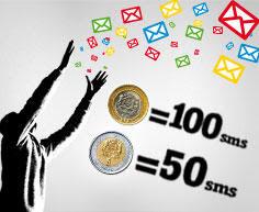 مع ميديتل أرسلوا بكل حرية SMS بإختيار Pass الذي يلائمكم,ترسِلون رسائل SMS بكثرة ؟ إلى غاية 30 أبريل 2013، استفيدوا من عروض SMS الخاصة :  -  Pass 50 SMS  ب 5 دراهم فقط، صالحة لمدة 3 أيام 24ساعة/24 نحو جميع الأرقام الوطنية.  -  Pass 100 SMS  ب 10 دراهم فقط، صالحة لمدة 7 أيام 24ساعة/24 نحو جميع الأرقام الوطنية.