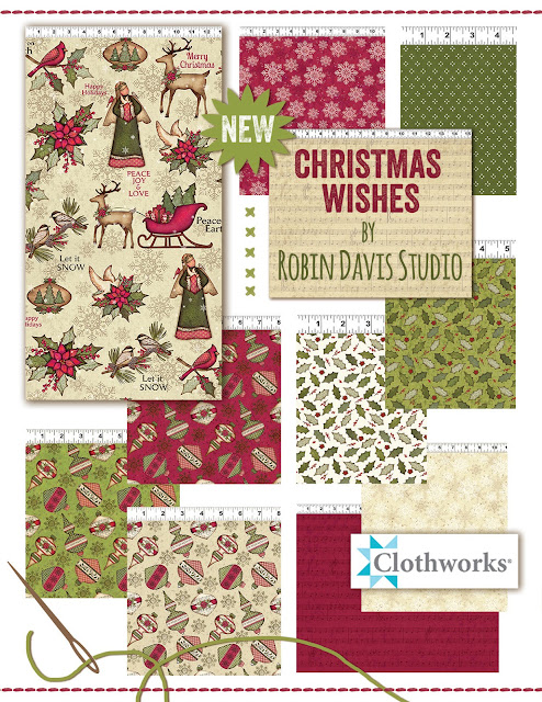 Christmas Wishes Fabric Collection - Robin Davis Studio & Clothworks