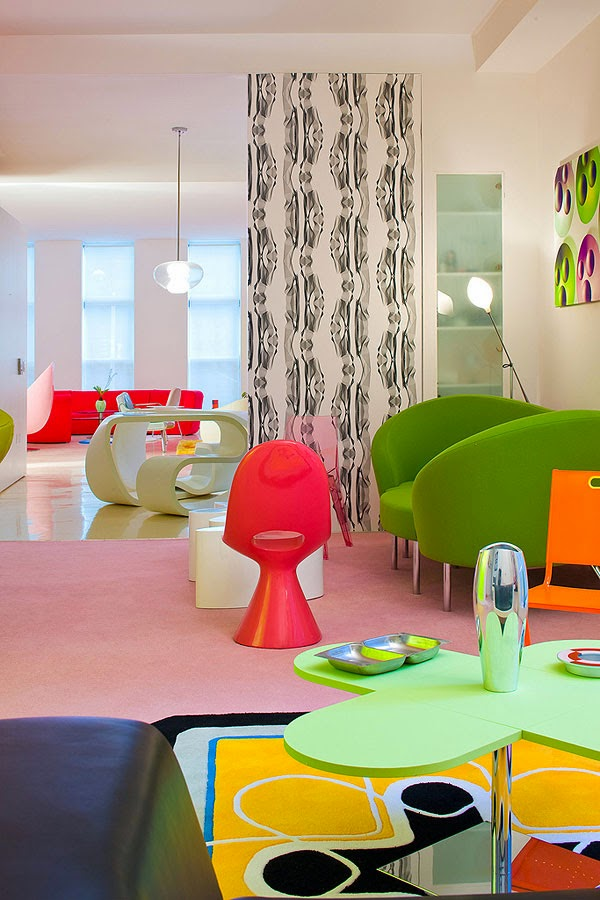 Decoración de Loft en New York por Karim Rashid 2