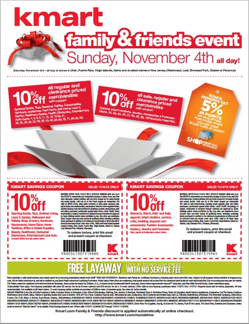Kmart friends and family