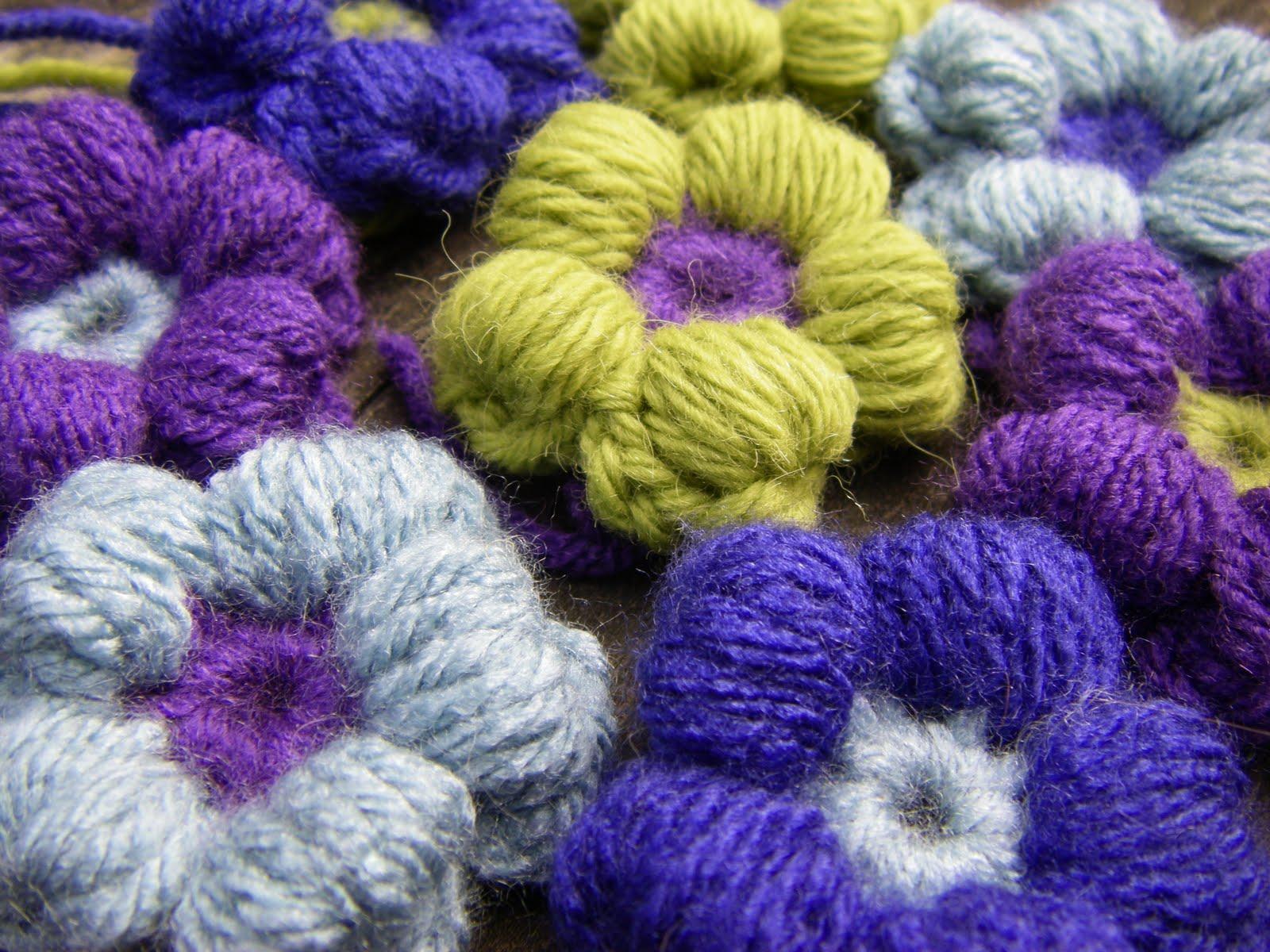 Вязание цветов крючком из остатков пряжи