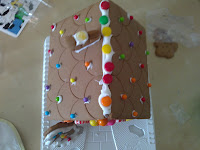 Gingerbread house, decorating, decoration, craft, craft with children, sweets, candy