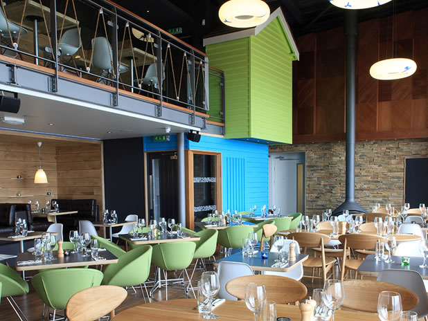Imagine these restaurant interior design urban reef
