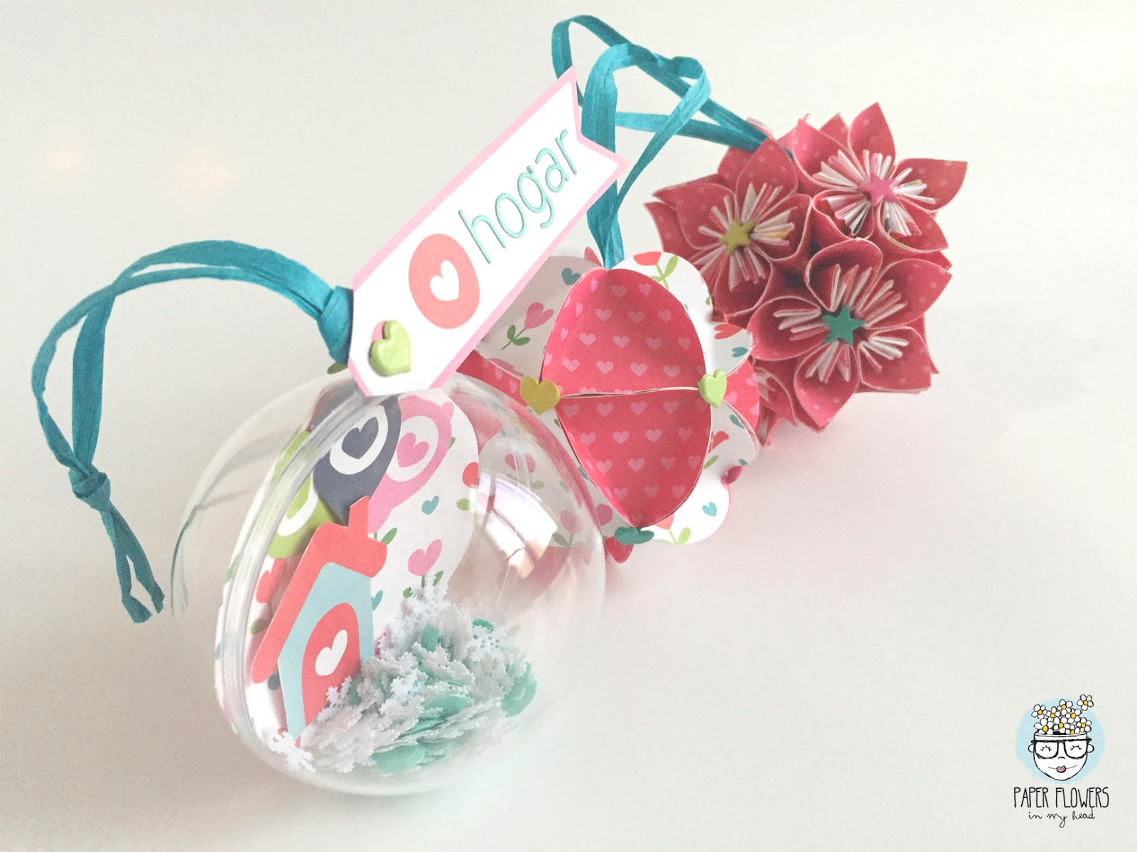 3 ideas para decorar bolas de navidad con papel de - Bolas transparentes para decorar ...