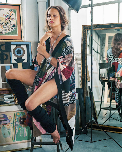 Actress, @ Alicia Vikander - Bruce Weber Photoshoot for DuJour Winter