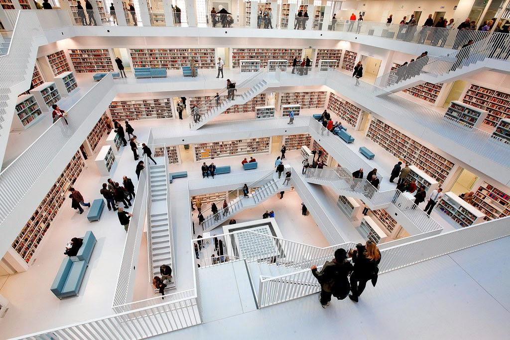 The new stuttgart city library for Galeria stuttgart