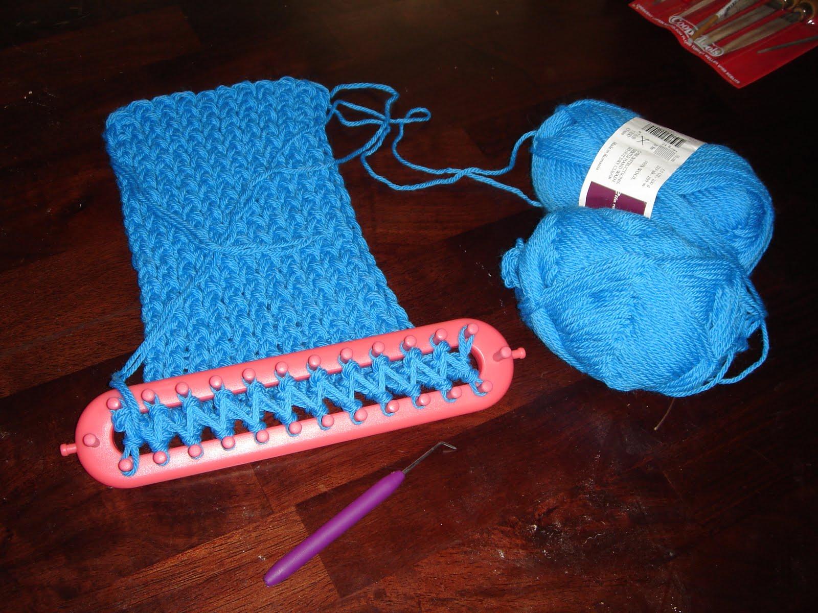 Вязание носка на станке