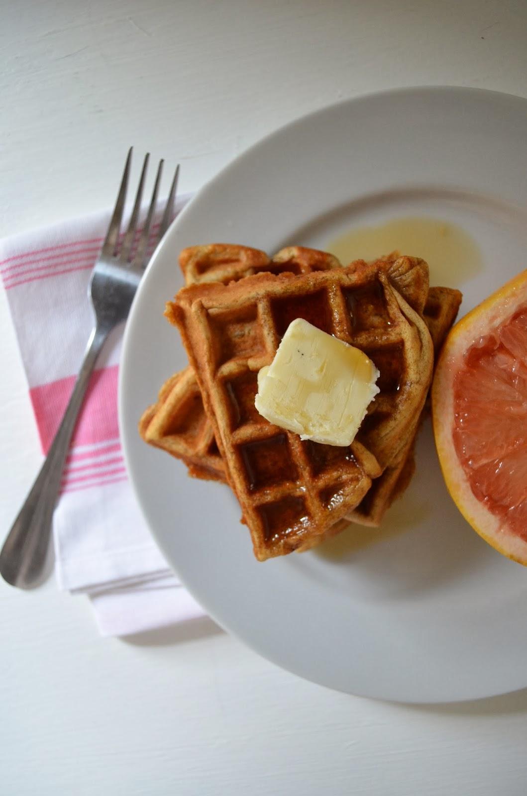 amour fou(d): rich buttermilk waffles.