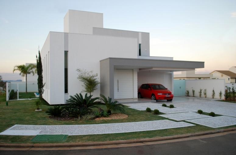 Fachadas de casas e muros veja modelos e dicas for Modelo de fachada de casa