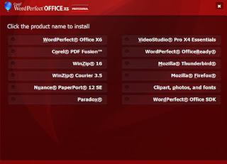 Corel WordPerfect Office X6 Professional 16 instalation