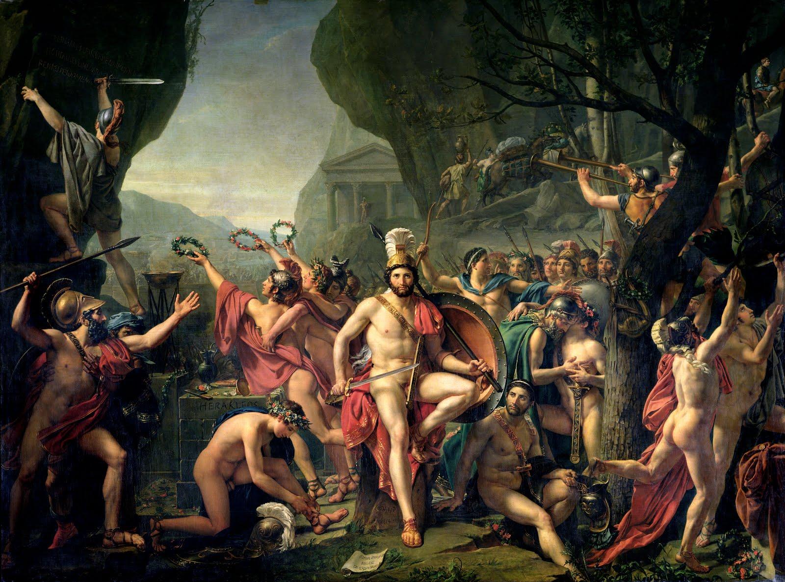 Léonida alle Termopili di Jacques-Louis David