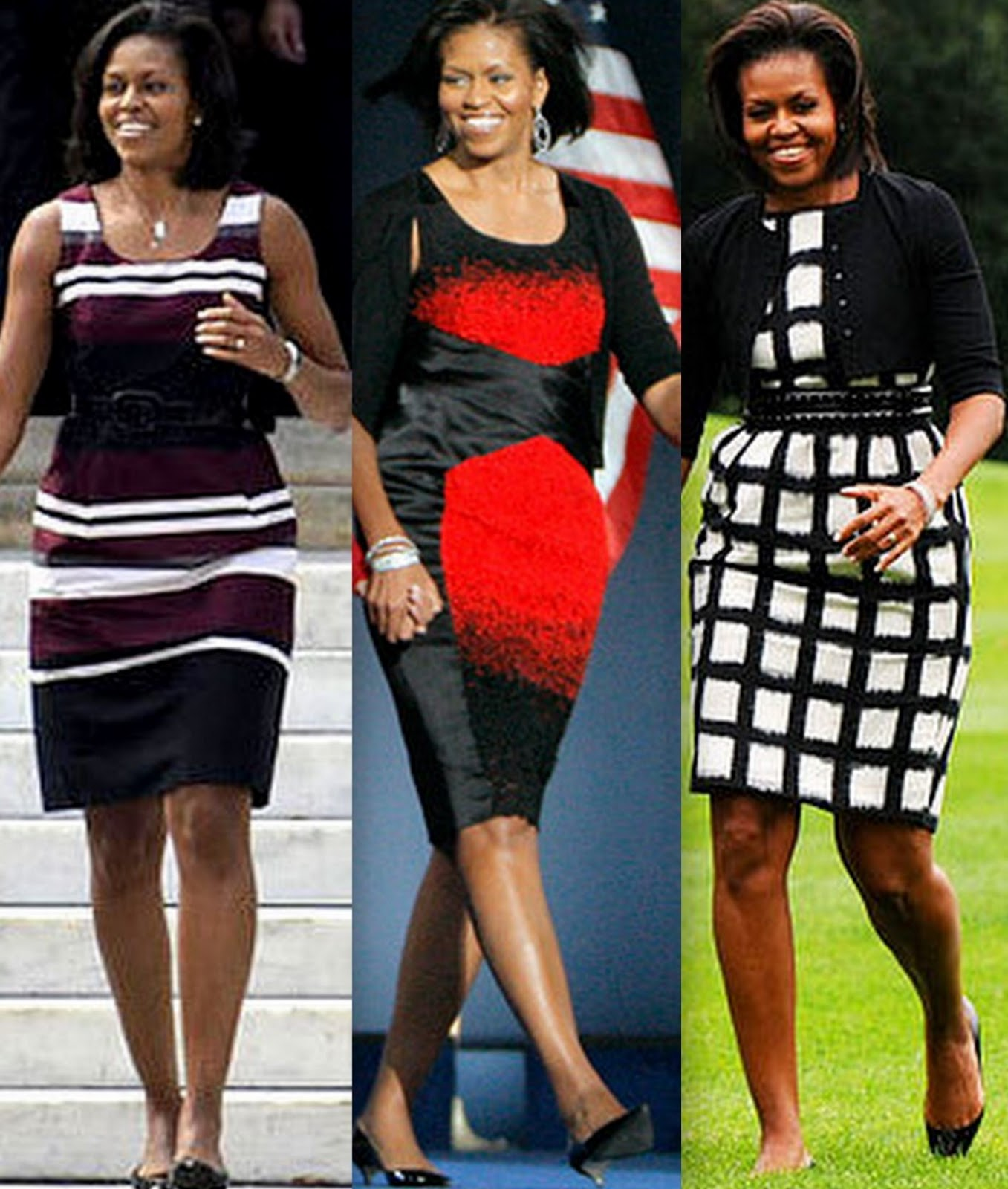 This Fab Set Of Pics From Fashion Sizzle: Michelle Obama Style Watch