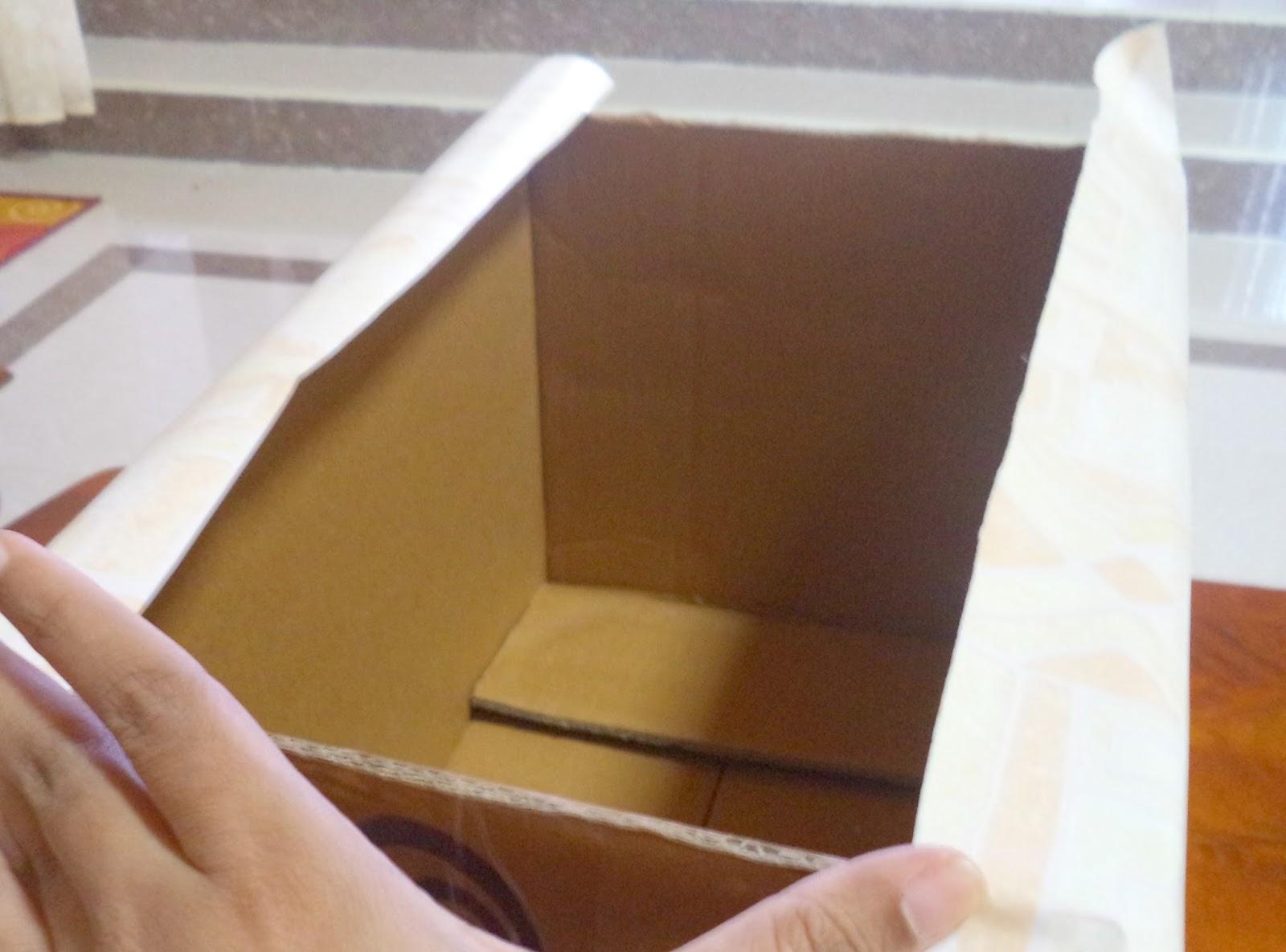 Art amp crafts home decor blog in india diy cardboard storage box