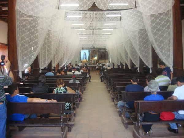 Interior de la Iglesia de Panchimalco