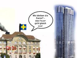 Bis zum 'Endsieg': Unsere SNB-Bankster machen den solida- rischen Klippensprung mit dem Euro!!