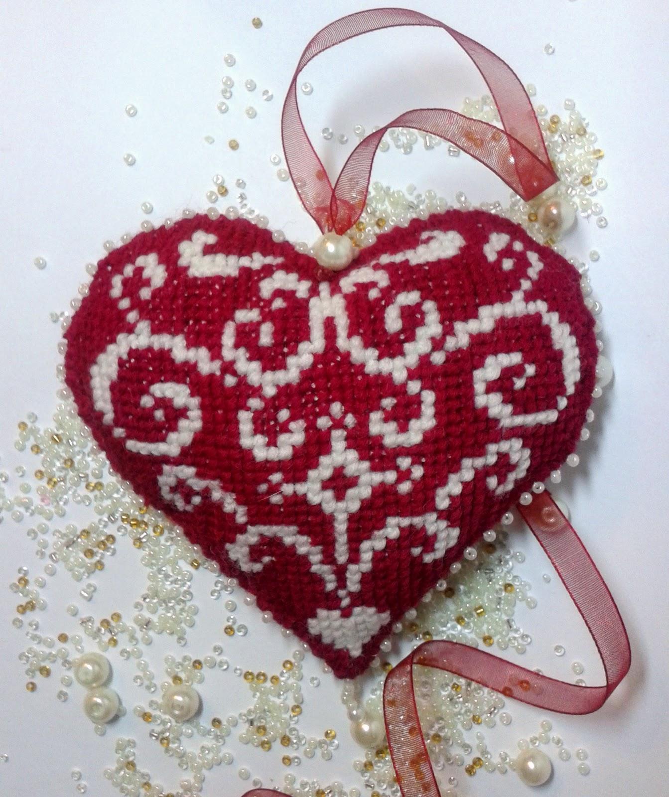 Валентинки вышивка бисером