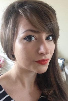 Retro orange lipstick review