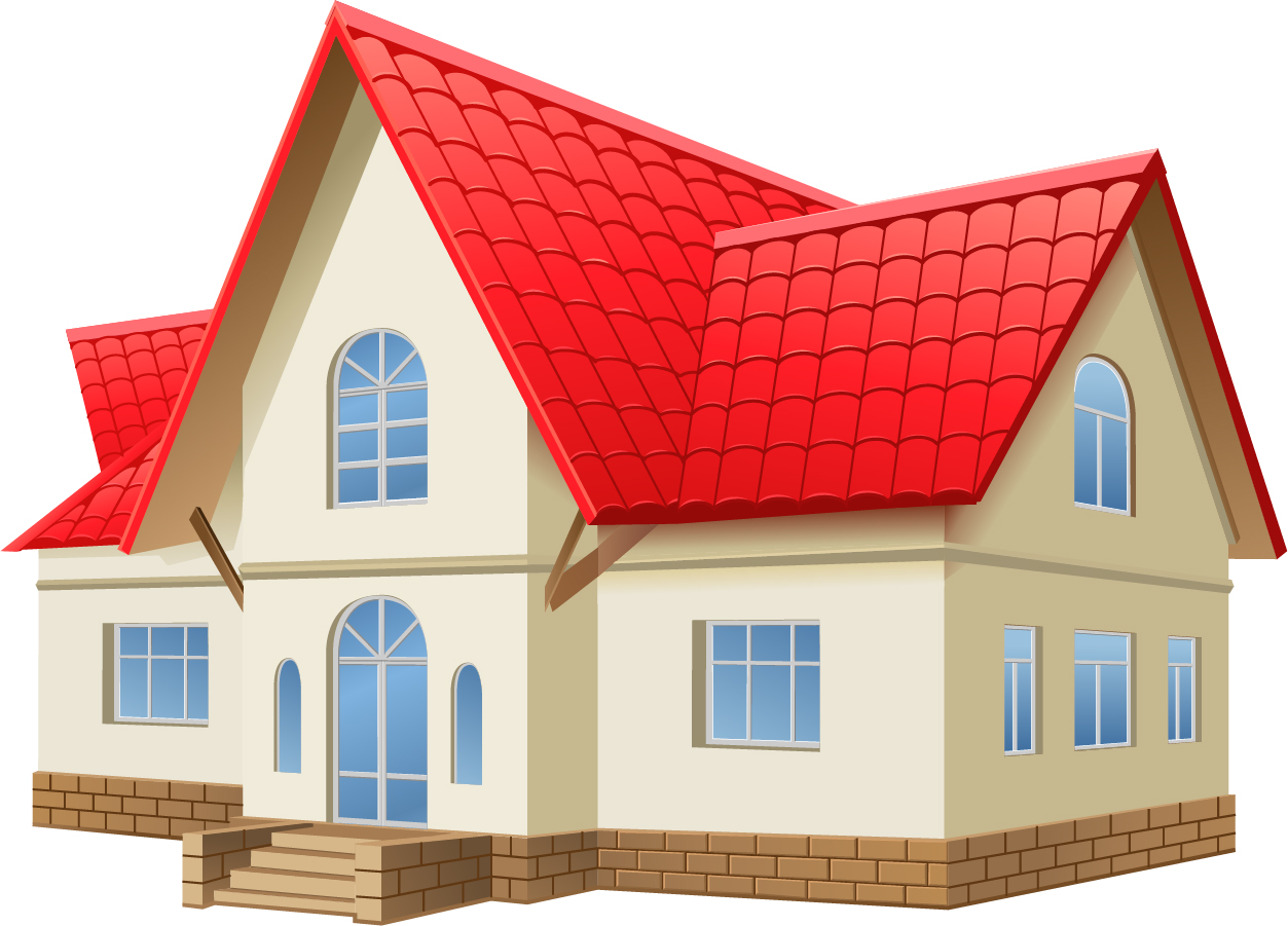 お家のクリップアート house vector イラスト素材2