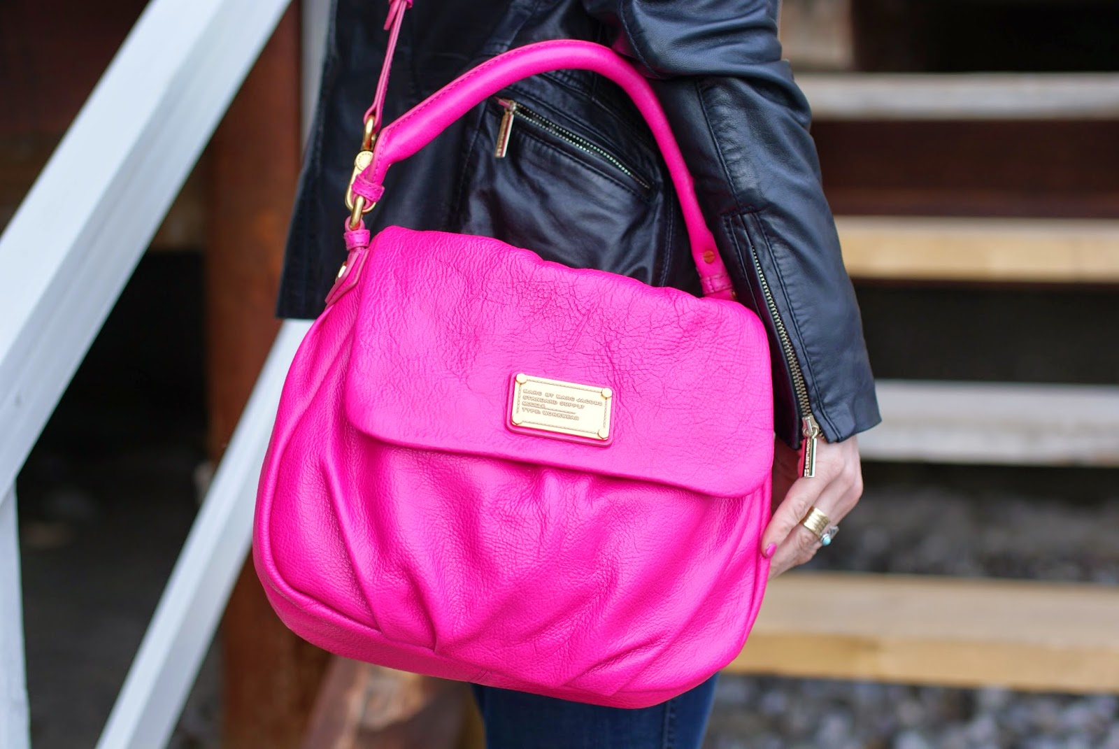 Marc by Marc Jacobs lil ukita pop pink bag, Fashion and Cookies, fashion blogger