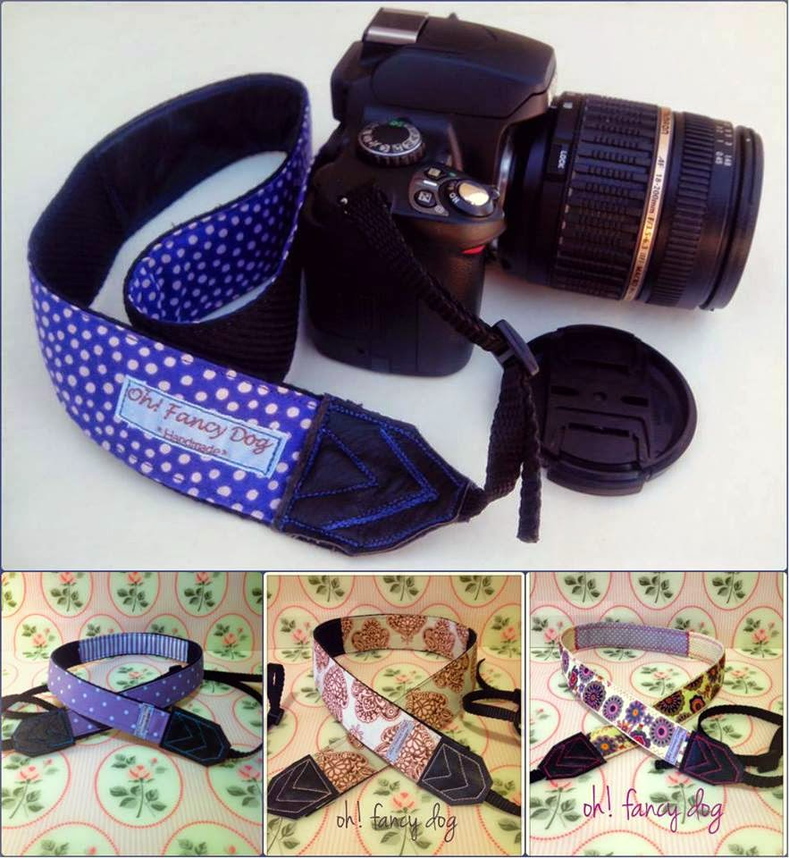 Cintas para cámara reflex handmade by ohfancydog