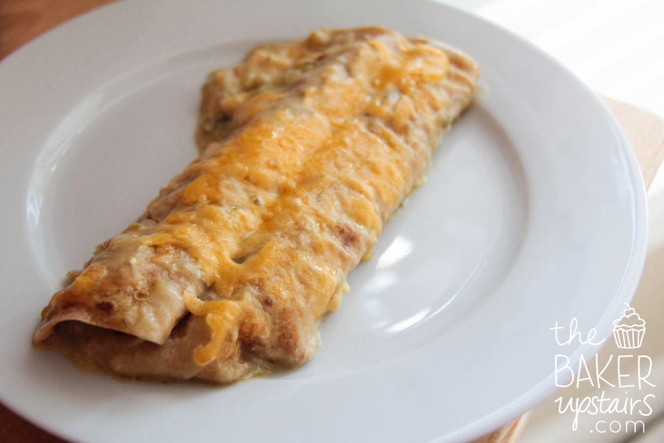 The Baker Upstairs: cheesy chicken and zucchini enchiladas