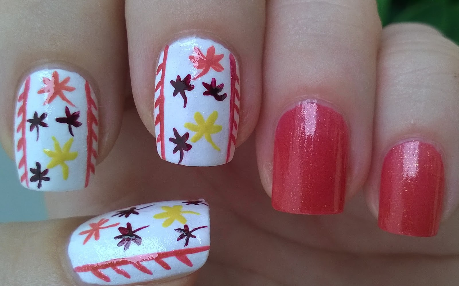 Fall Nail Art Leaves Brush Designs