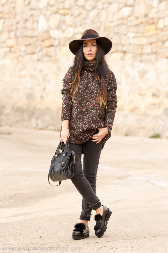 BLogger de moda española con look para el dia a dia con zapatos de calidad bonitos