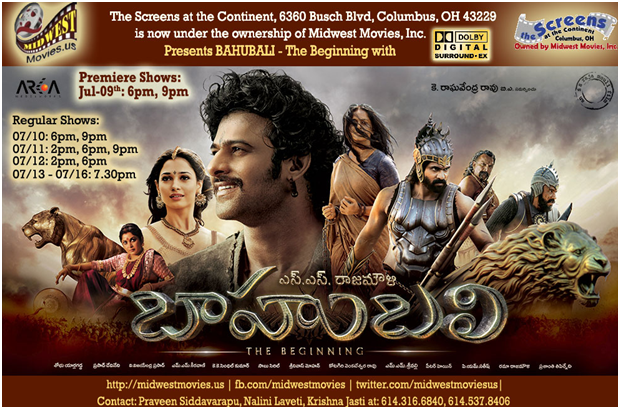 Baahubali Premier By Midwest Movies .Telugucinemas.in
