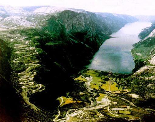 Lysebotn Road, Norway.