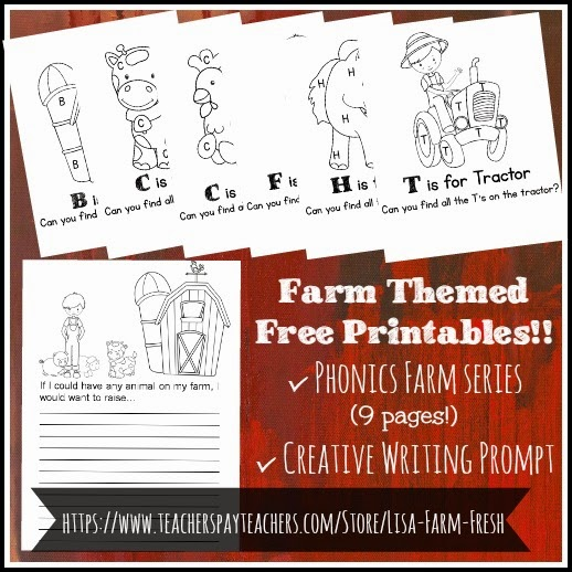 Free Farm Themed Printables