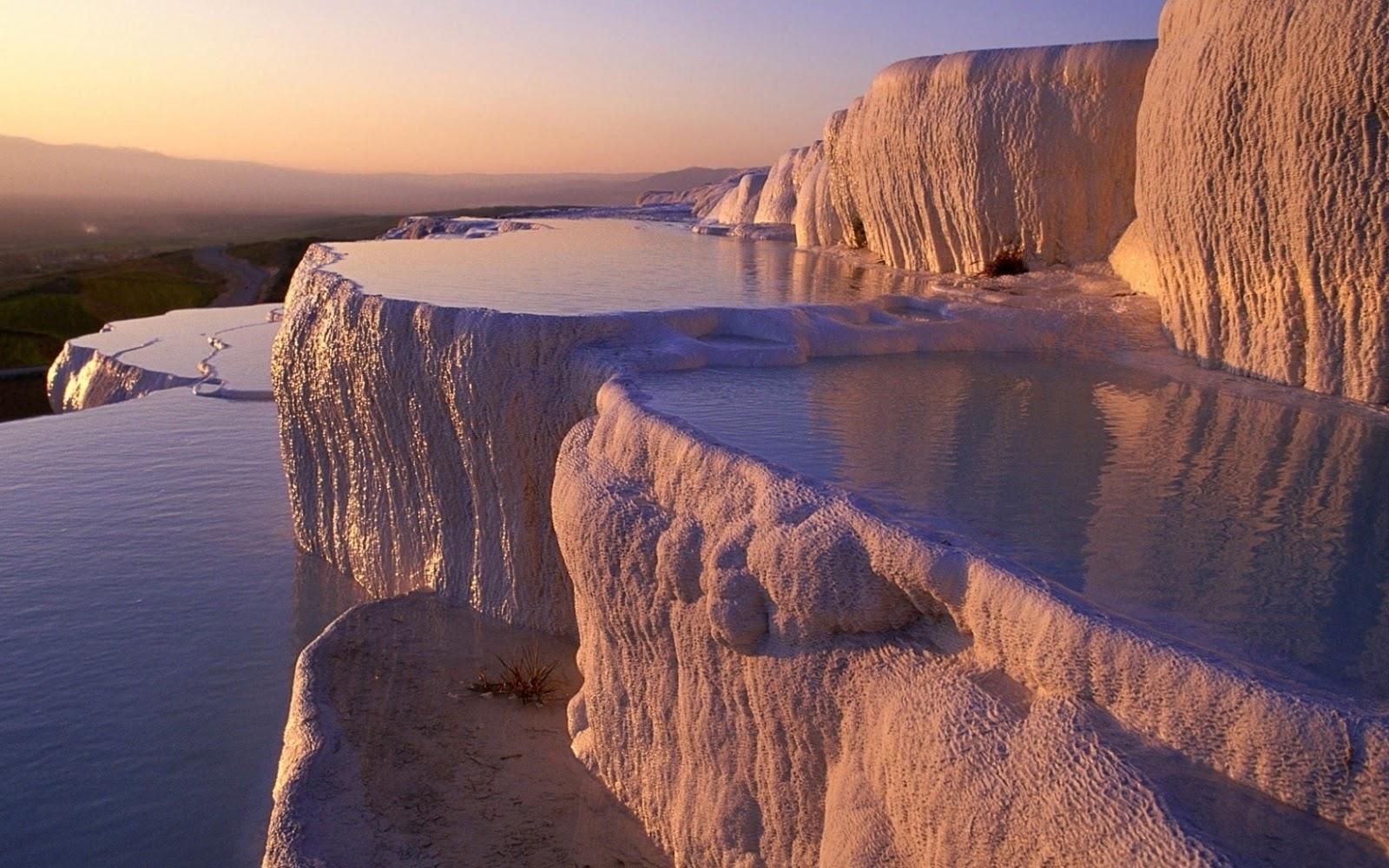Turquía Pamukkale agua terraza