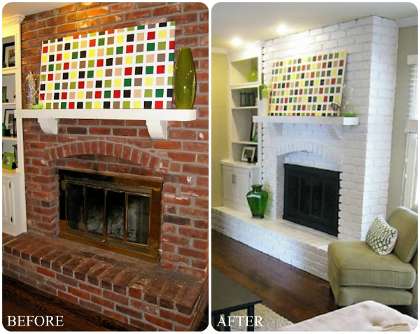 how to build a fireplace mantel over brick
