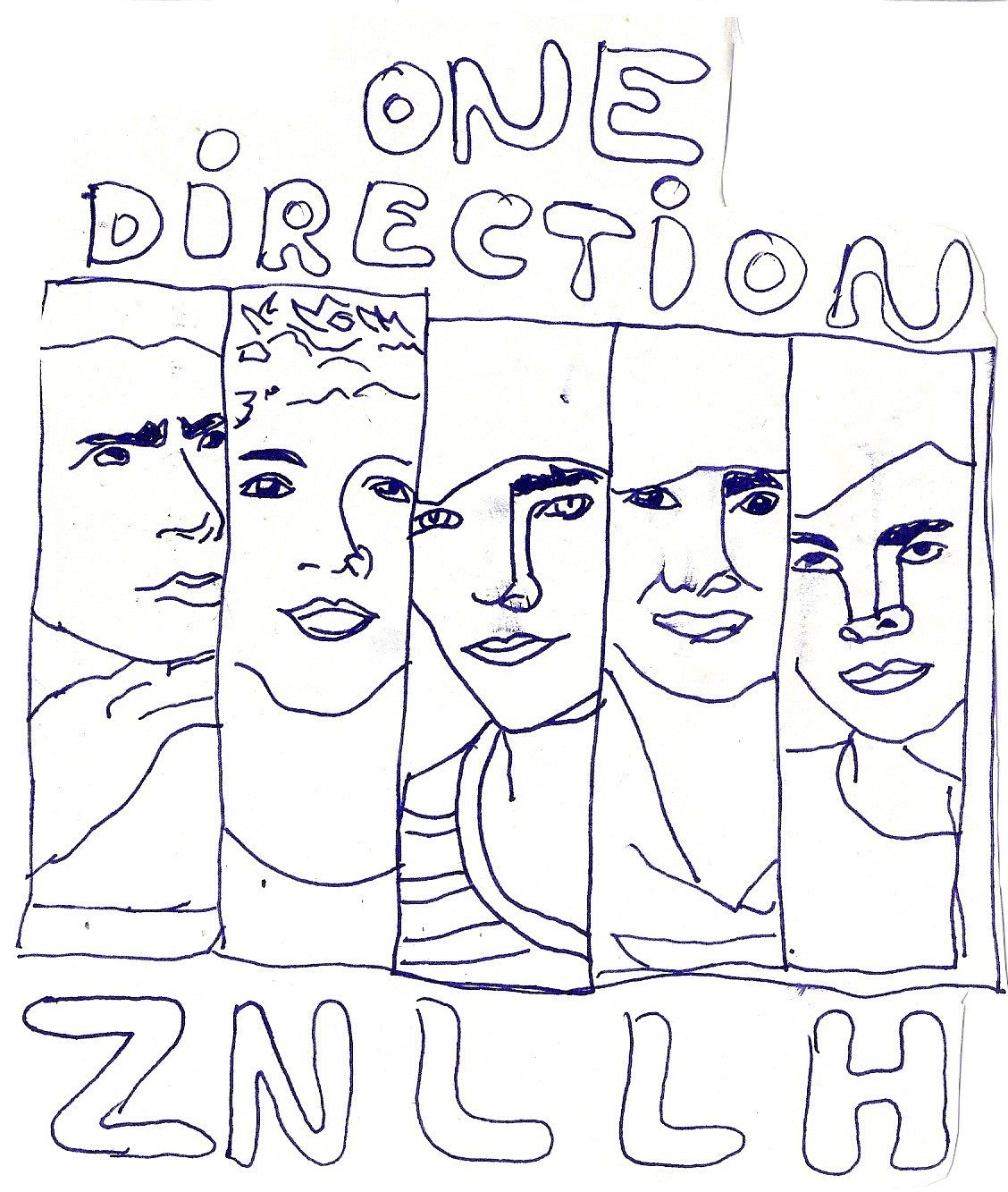 Dibujo de One Direction