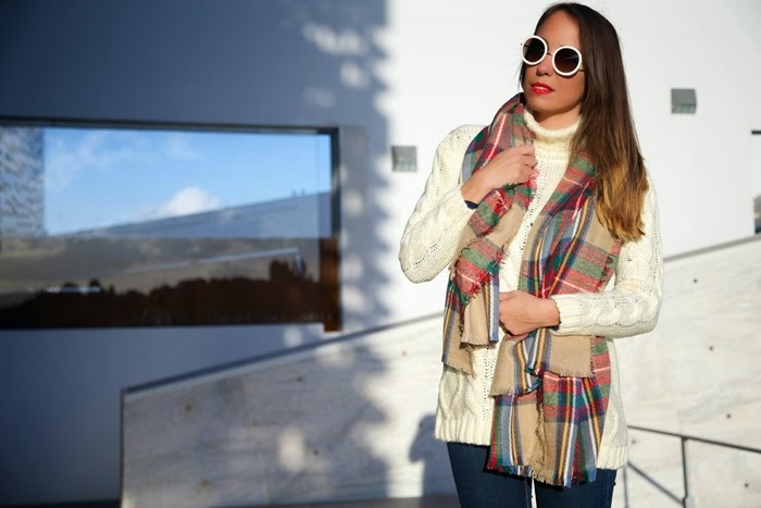 tartan maxi scarf