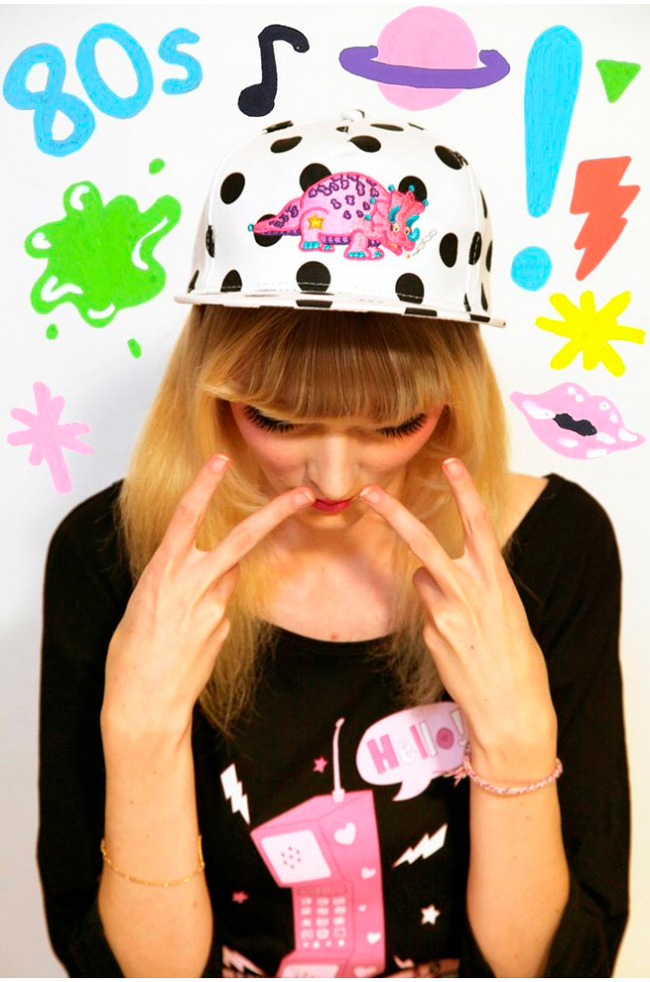 Tilly Me, dinosaur cap, kawaii fashion