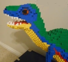 Baby T. rex LEGO Creation, Building legos with Christ