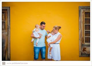 Fotógrafo de niños y bebés con la familia