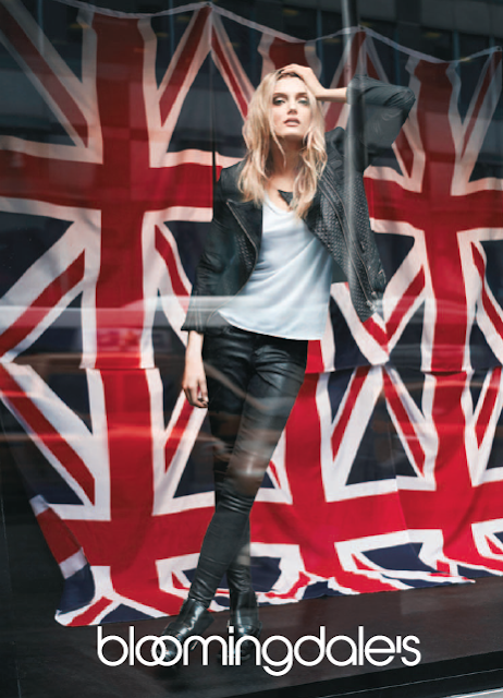 Lily Donaldson wearing All Saints for Bloomingdale's British Invasion campaign
