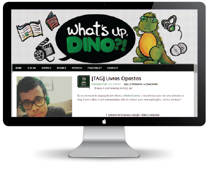 "Template do Blog ""What's Up Dino!?"" by Jéssica Guedes ( http://www.jessicaguedes.com )"