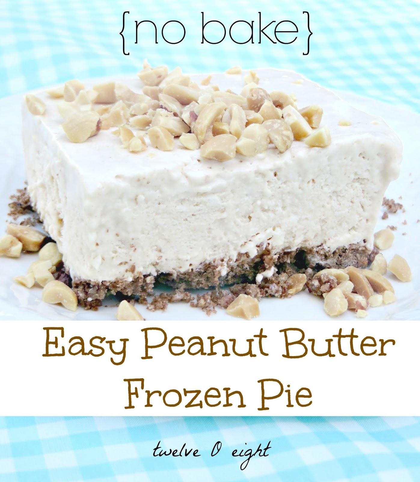 Easy peanut butter frozen dessert for Easy peanut butter dessert recipes