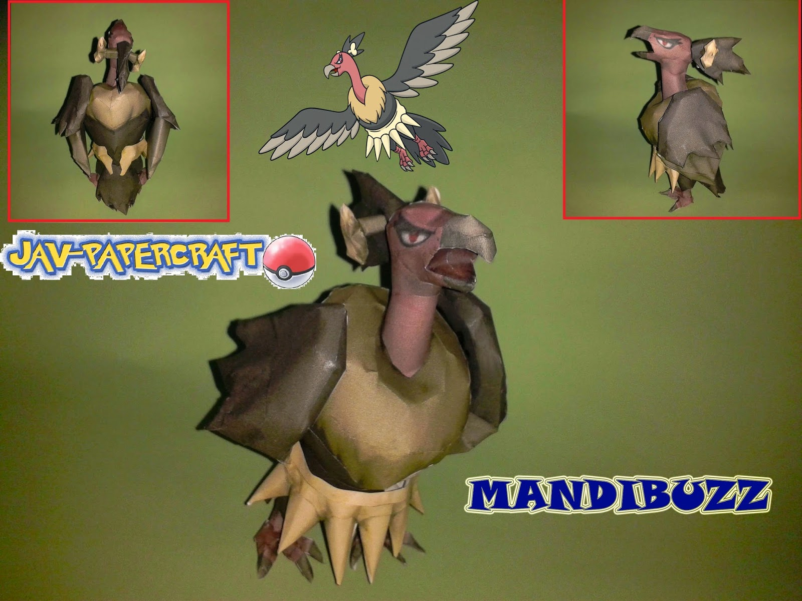 Pokemon Mandibuzz Papercraft