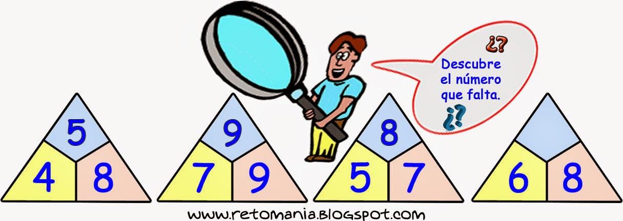 Descubre el número, Piensa rápido, Sólo para genios, Distribuye los números, reto matemático, desafío matemático, problema matemático, retos con solución, problemas de lógica