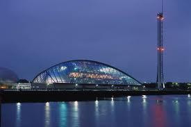 Glasgow Science Centre and the River Clyde in Glasgow