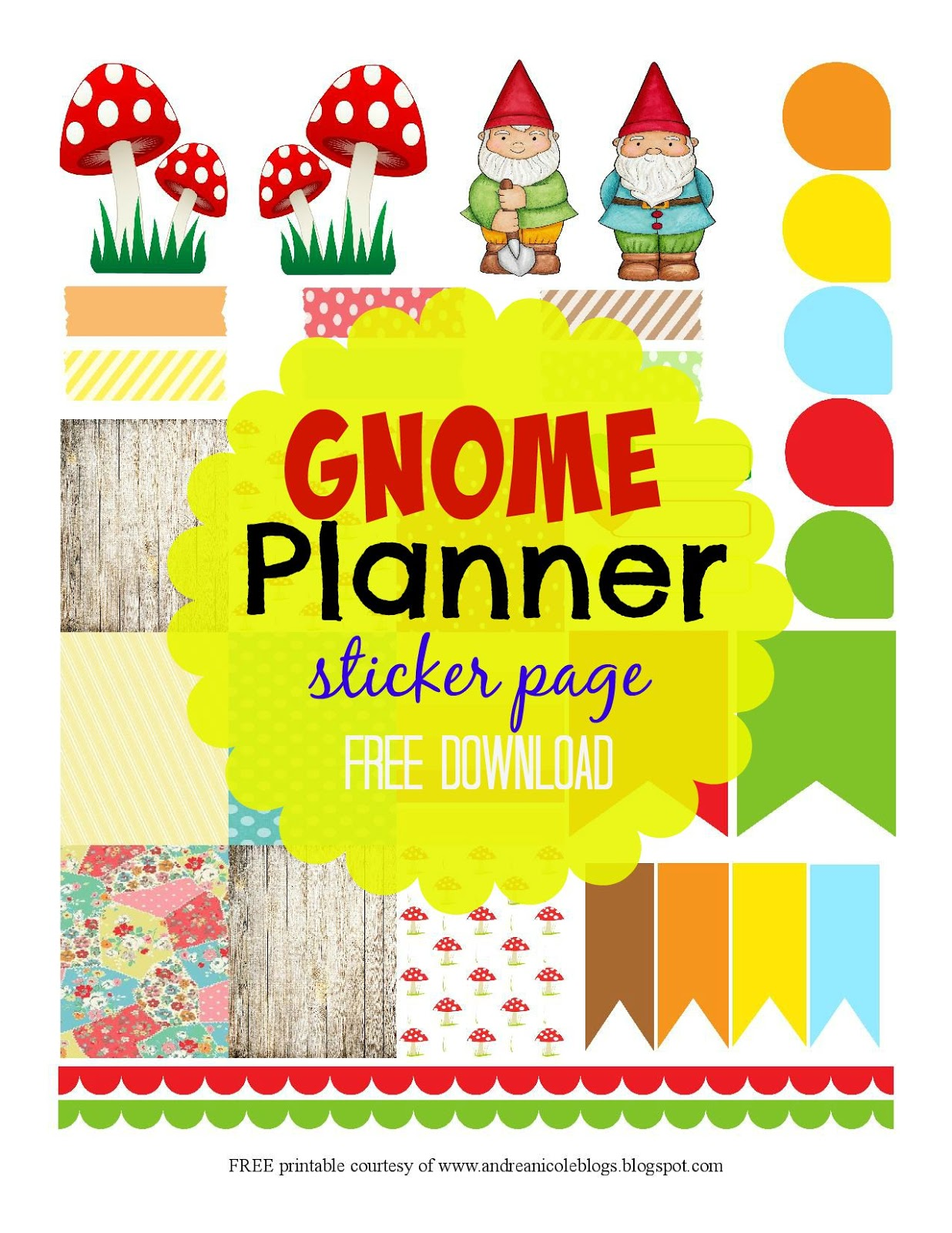 Andrea nicole free printable gnome planner page decorations for Gnome 3 decoration fenetre
